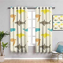 ILMF Blackout Curtain Set With Eyelet, Cartoon