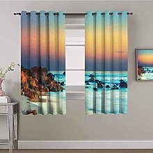 ILMF Blackout Curtain Set With Eyelet, Color Reef