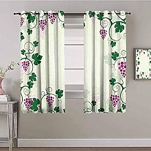 ILMF Blackout Curtain Set With Eyelet, Green Grape