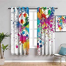 ILMF Blackout Curtain Set With Eyelet, Inkjet