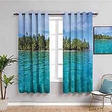 ILMF Blackout Curtain Set With Eyelet, Landscape