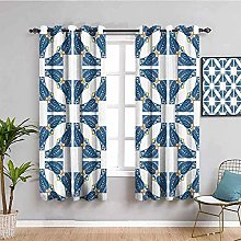 ILMF Blackout Curtain Set With Eyelet, Nordic