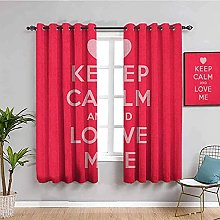 ILMF Blackout Curtain Set With Eyelet, Red Love