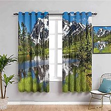 ILMF Blackout Curtain Set With Eyelet, Scenery