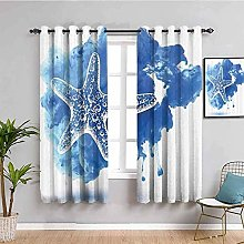 ILMF Blackout Curtain Set With Eyelet, Starfish
