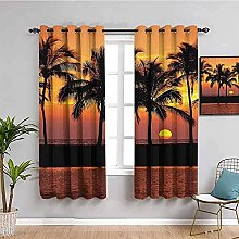 ILMF Blackout Curtain Set With Eyelet, Sunset