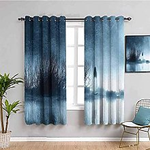 ILMF Blackout Curtain Set With Eyelet, Watercolor