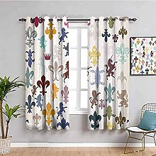 ILMF Blackout Curtain Set With Eyelet, White
