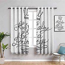 ILMF Blackout Curtain Set With Eyelet, White Crown