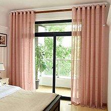 ILMF Cotton Linen Voile Window Curtain, Thicken
