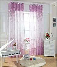 ILMF Country Style Curtain, Voile Window Sheer