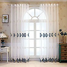 ILMF Embroidered Curtain, Voile Window Sheer Super