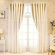 ILMF With Grommet Curtain, Sheer Embroidered Voile
