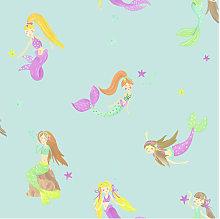 Imagine Fun Wallpaper Mermaid World Teal 696103