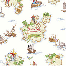 Imagine Fun Wallpaper Pirates Ahoy Multi 696107