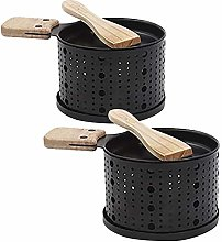 IMhope 2 Pack Cheese Raclette with Wood Spatula,