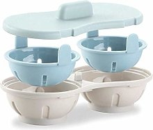 iMiMi Egg Poacher 3 Set, Cookware Double Cup Dual