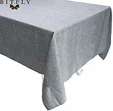 Imitated Linen Tablecloth Gray Khaki Kitchen Table