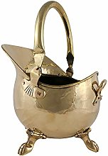 Imperial Coal Scuttle Bucket Solid Brass Claw Feet