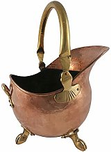 Imperial Coal Scuttle Bucket Solid Copper Claw