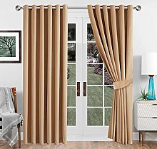 Imperial Rooms Beige Blackout Curtains 90 Drop