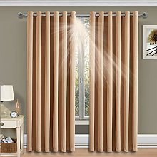 Imperial Rooms Beige Blackout Curtains 90 x 108