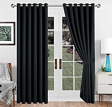 Imperial Rooms Black Blackout Curtains for Bedroom