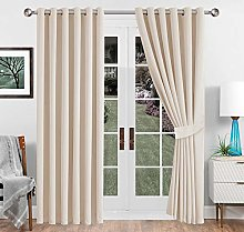 Imperial Rooms Cream Blackout Curtains 66 x 72