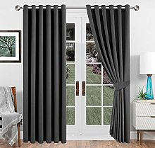 Imperial Rooms Grey Blackout Curtains 66x72 Eyelet