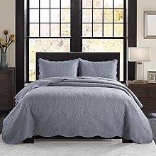 Imperial Rooms Grey Comforter Set 3 Piece Floral