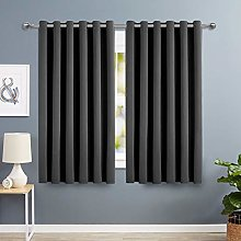 Imperial Rooms Grey Eyelet Blackout Curtains 46 x