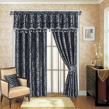 Imperial Rooms Grey Jacquard Pencil Pleat Window