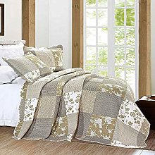 Imperial Rooms Patchwork Quilted Bedspread Bed