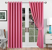 Imperial Rooms Pink Blackout Curtains 90 x 72
