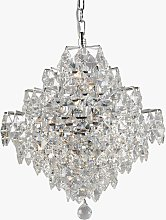 Impex Diamond Cube Crystal Chandelier Ceiling