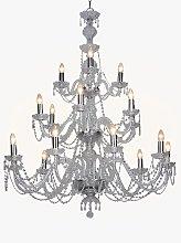 Impex Modra Crystal Chandelier Ceiling Light,