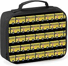 Imprintable Bus Emoji Pattern Lunch Cooler Bag