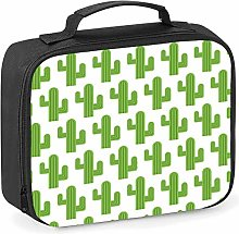 Imprintable Cactus Emoji Pattern Lunch Cooler Bag