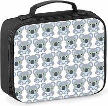 Imprintable Koala Emoji Pattern Lunch Cooler Bag