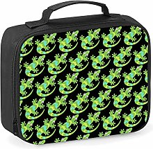 Imprintable Lizard Emoji Pattern Lunch Cooler Bag