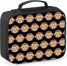Imprintable Monkey Face Emoji Pattern Lunch Cooler