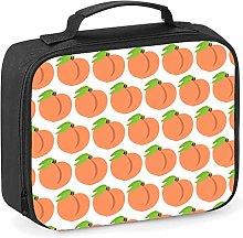 Imprintable Peach Emoji Pattern Lunch Cooler Bag
