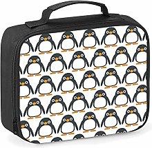 Imprintable Penguin Emoji Pattern Lunch Cooler Bag