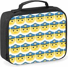 Imprintable Police Officer Emoji Pattern Lunch