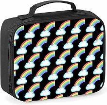 Imprintable Rainbow Emoji Pattern Lunch Cooler Bag