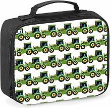 Imprintable Tractor Emoji Pattern Lunch Cooler Bag