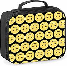 Imprintable Upside Down Face Emoji Pattern Lunch