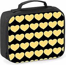 Imprintable Yellow Heart Emoji Pattern Lunch
