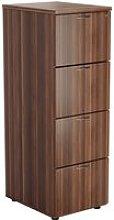 Impulse Filing Cabinet, Dark Walnut, Free Standard