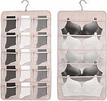 IMURZ Dual-Sided Hanging Closet Organizer with 20